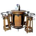 Fassgarnitur GRACINAO Fasstisch Stehtisch Fasshocker Weinfassmöbel
