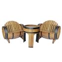 Fassgarnitur MACABEO 3-teilige Sitzgarnitur vom Fass