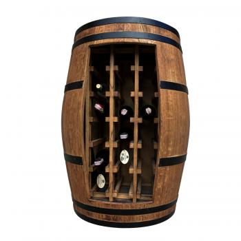 Fasskönigbar aus Weinfass Fassbar Fassregal Weinregal TREBBIANO 2 aus massivem Eichenfass
