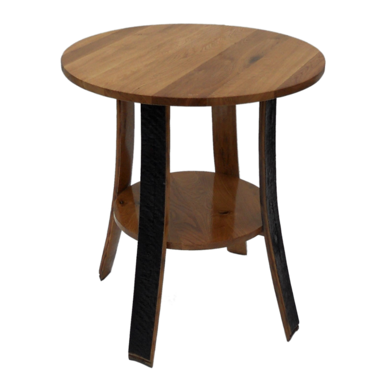 Fasstish runder Tisch vom Fassdauben OAK