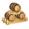 Holzfass INZOLIA 3-er Set Pyramide Weinfass Schnapsfass Eichenfass Barriquefass  Weinfasspyramide